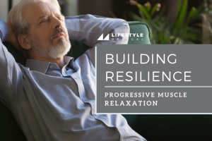 Progressive muscle relaxation is an exercise that reduces stress and anxiety in your body by having you slowly tense and then relax each muscle.