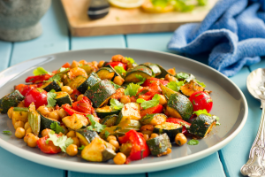 Roasted Mixed Vegetables and Chickpeas